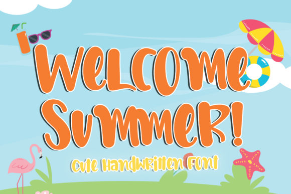 Print on Demand: Welcome Summer Script & Handwritten Font By Stefani Letter