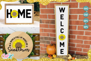 Download Free Welcome Sing Sunflower Cut File Graphic By Cute Files Creative for Cricut Explore, Silhouette and other cutting machines.