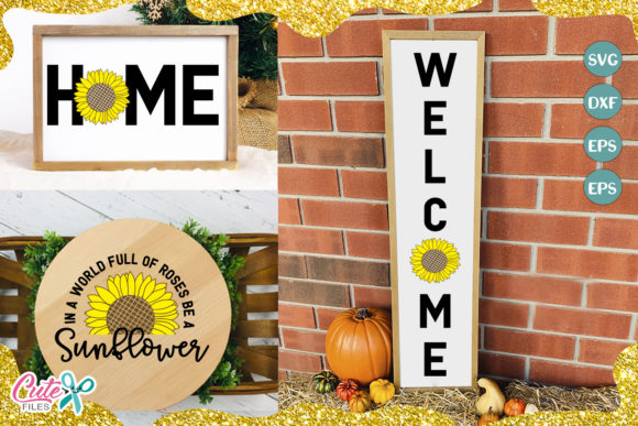 Welcome Sing Sunflower Cut File Graphic Illustrations By Cute files