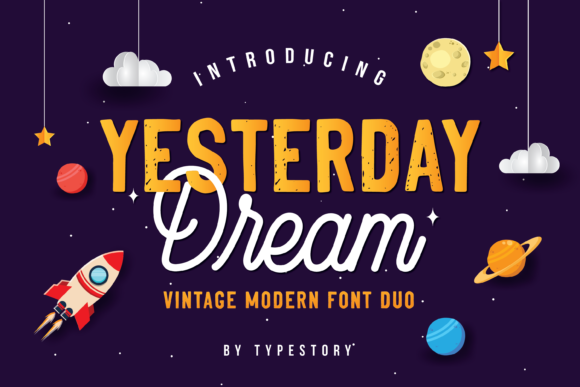 Print on Demand: Yesterday Dream Script & Handwritten Font By Typestory
