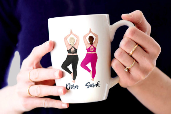 Yoga Plus Size Girls Clipart Graphic Illustrations By LeCoqDesign - Image 6