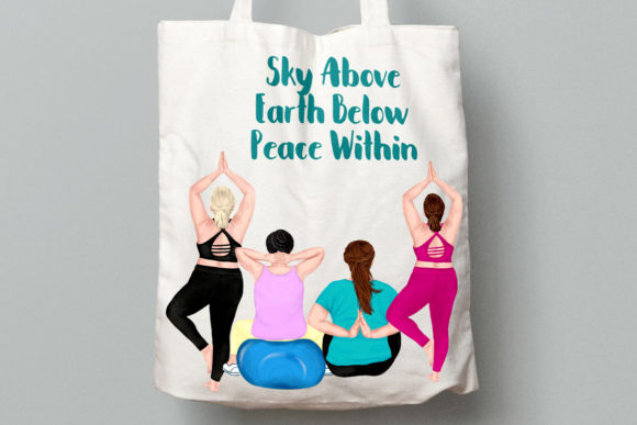 Yoga Plus Size Girls Clipart Graphic Illustrations By LeCoqDesign - Image 7