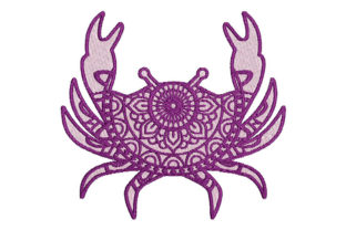 Print on Demand: Zodiac Cancer Mandala Style Religion & Faith Embroidery Design By Embroidery Shelter