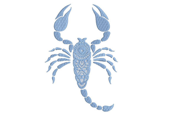 Print on Demand: Zodiac Scorpion Mandala Style Bugs & Insects Embroidery Design By Embroidery Shelter