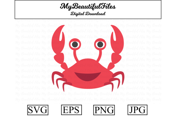 Print on Demand: Crab Clipart Illustration Graphic Illustrations By MyBeautifulFiles
