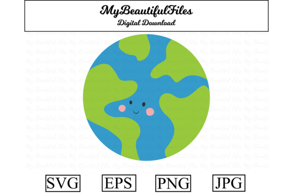 Print on Demand: Earth Space Kawaii Clipart Graphic Illustrations By MyBeautifulFiles