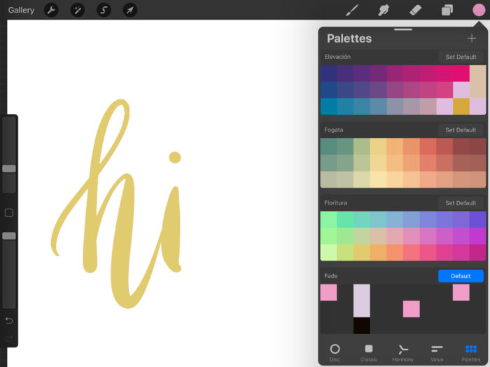 how to use procreate