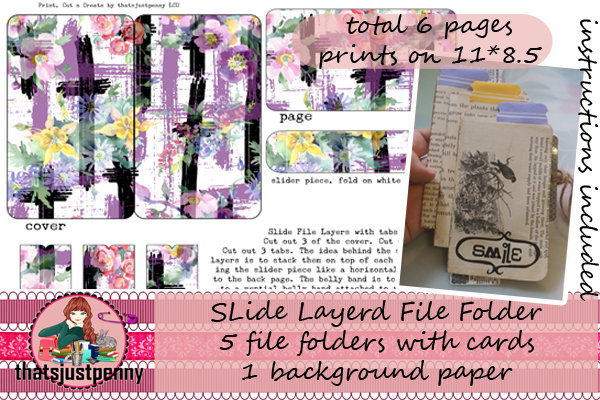 Download Free Slide Layerd File Folders Print Graphic By Thatsjustpenny for Cricut Explore, Silhouette and other cutting machines.