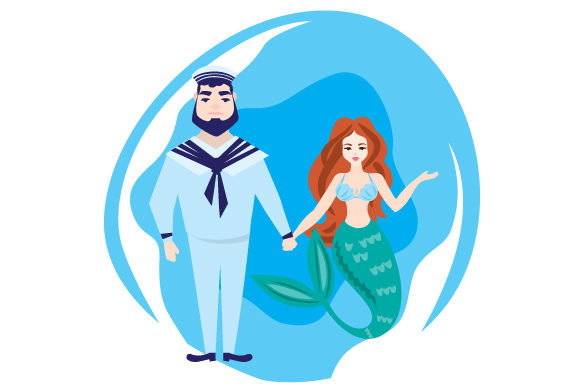 Download Free Mermaid Navy Sailor Svg Cut File By Creative Fabrica Crafts for Cricut Explore, Silhouette and other cutting machines.