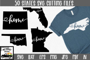 Print on Demand: 50 States Bundle - Home State Graphic Crafts By oldmarketdesigns