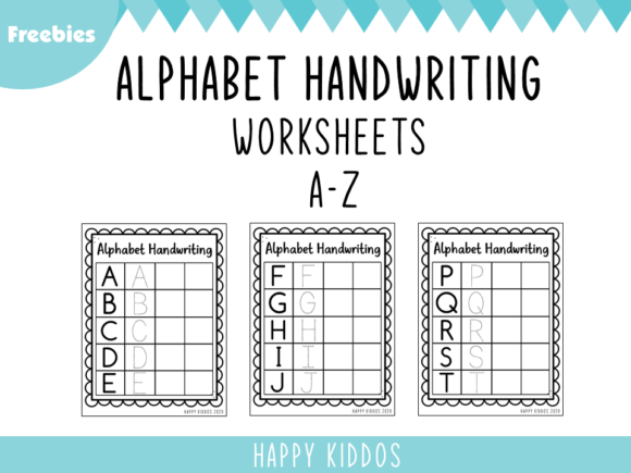 Alphabet Handwriting Worksheets Graphic 1st grade By Happy Kiddos