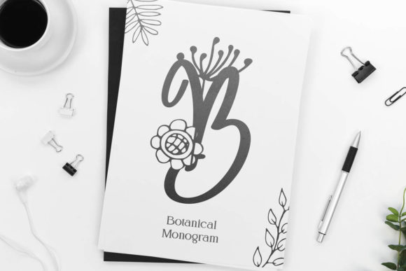 Print on Demand: Angelina Monogram Decorative Font By Monogram Lovers - Image 4