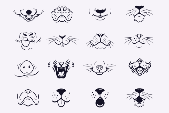 Animals Face Mask Designs Graphic By Craft N Cuts Creative Fabrica