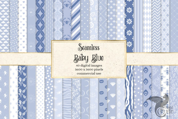 Print on Demand: Baby Blue Seamless Patterns Graphic Patterns By Digital Curio