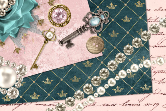 Print on Demand: Baubles and Treasures Graphics Graphic Illustrations By Digital Curio - Image 2