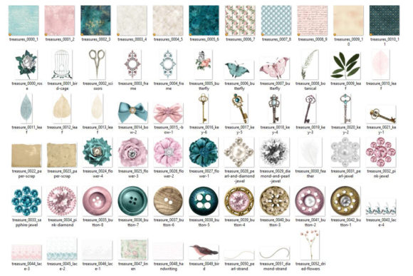 Print on Demand: Baubles and Treasures Graphics Graphic Illustrations By Digital Curio - Image 3