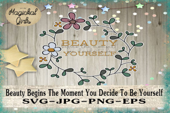 Download Free Beauty Begins The Moment Graphic By Magickal Girls Michelle S for Cricut Explore, Silhouette and other cutting machines.