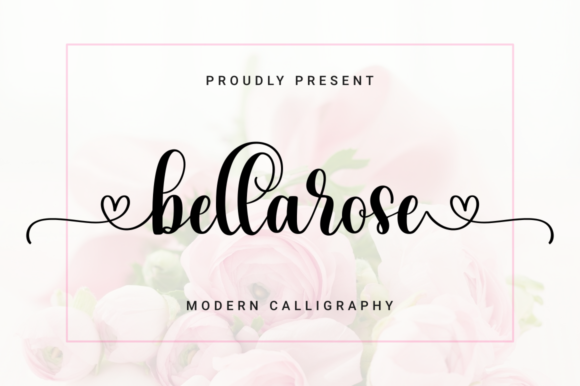 Download Free Bellarose Font By Kammaqsum Creative Fabrica for Cricut Explore, Silhouette and other cutting machines.