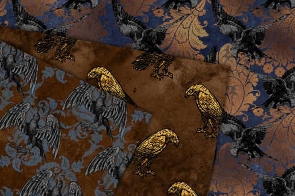 Print on Demand: Birds of Prey Digital Paper Graphic Backgrounds By Digital Curio - Image 2