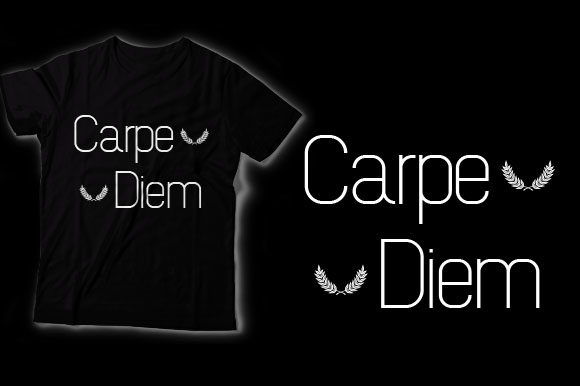 Download Free Carpe Diem Graphic By Shirtgraphic Creative Fabrica for Cricut Explore, Silhouette and other cutting machines.