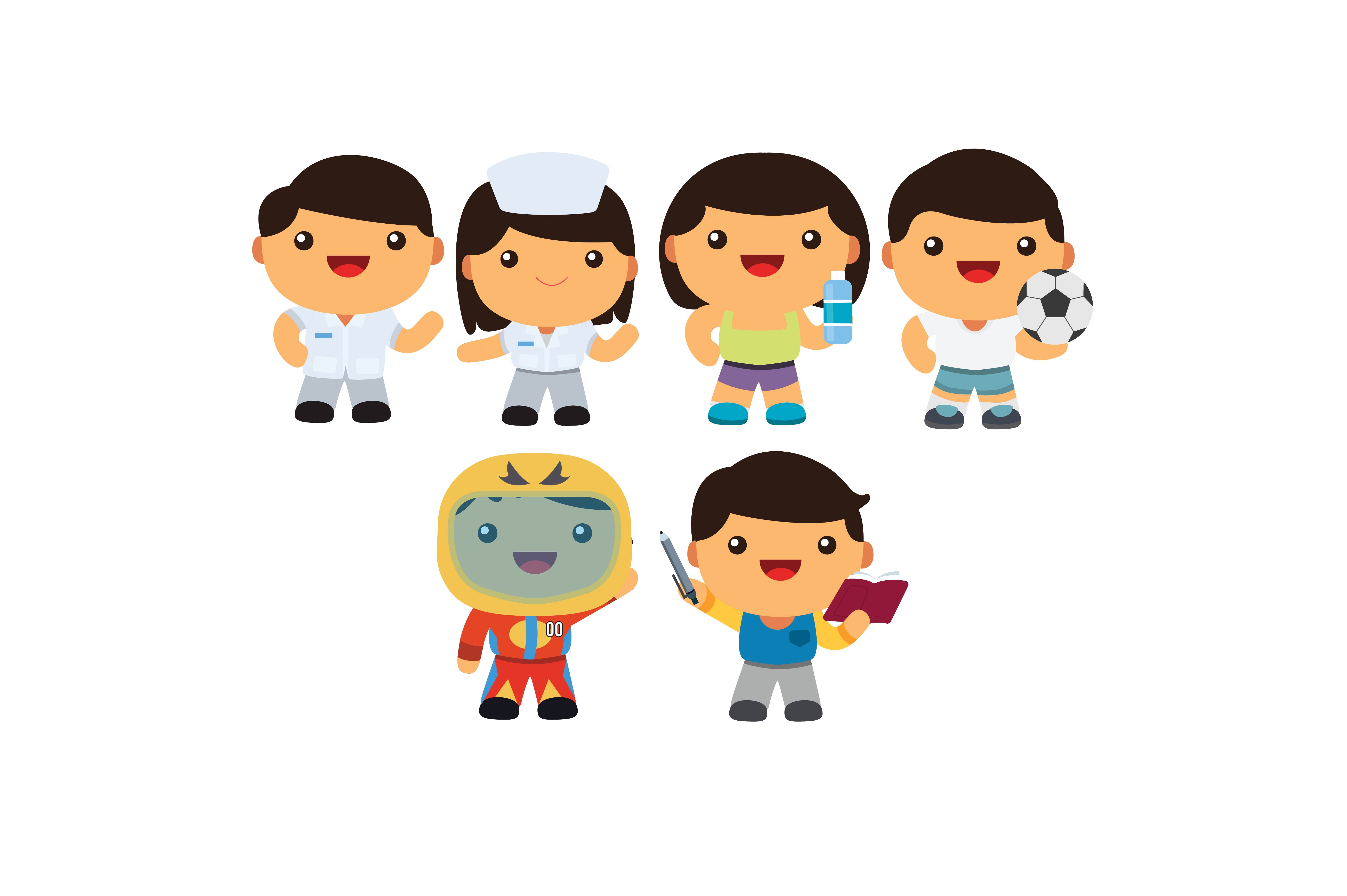 Download Free Cartoon Characters Profession Outline Graphic By for Cricut Explore, Silhouette and other cutting machines.