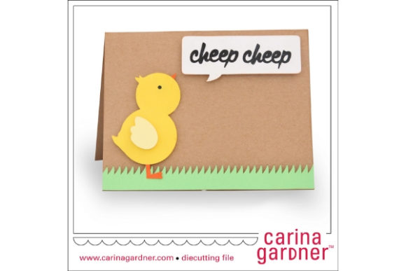 Download Free Chick Card Graphic By Carina2 Creative Fabrica for Cricut Explore, Silhouette and other cutting machines.