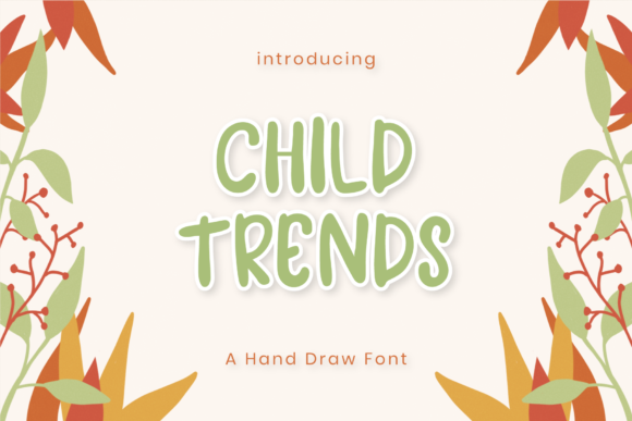Print on Demand: Child Trends Display Font By balyastd