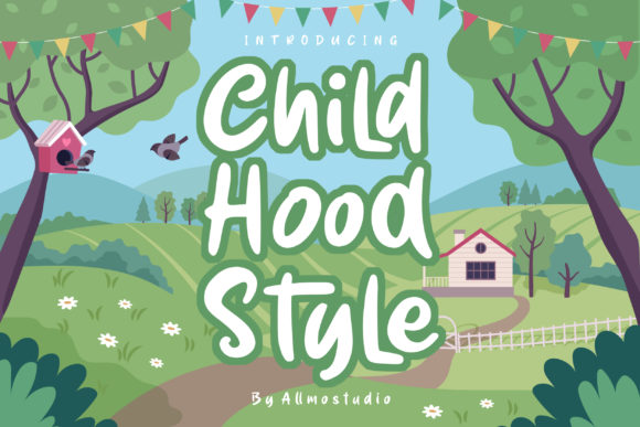 Print on Demand: Childhood Style Script & Handwritten Font By AllmoStudio