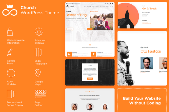 Church WordPress Theme Graphic WordPress By Visualmodo WordPress Themes