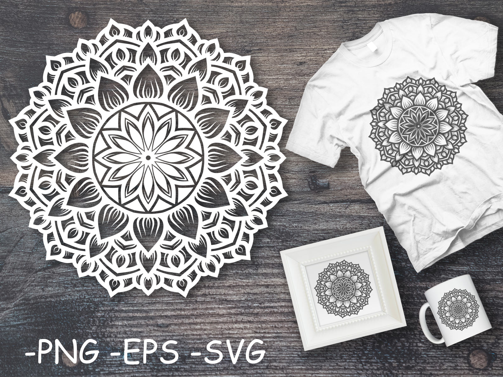 Download Free Circular Pattern Mandala Art 88 Graphic By Azrielmch Creative for Cricut Explore, Silhouette and other cutting machines.