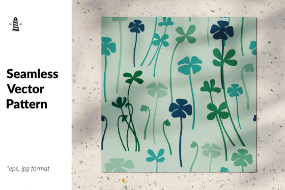 Download Free Clover Seamless Pattern Graphic By Northseastudio Creative Fabrica for Cricut Explore, Silhouette and other cutting machines.
