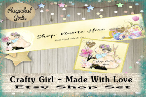 Print on Demand: Crafty Girl Shop Banner and Icon Graphic Websites By Magickal Girls (Michelle's Myths)
