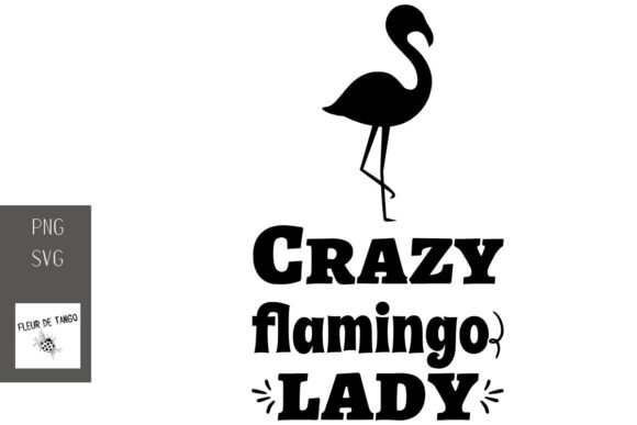 Download Free Crazy Flamingo Lady Graphic By Fleur De Tango Creative Fabrica for Cricut Explore, Silhouette and other cutting machines.