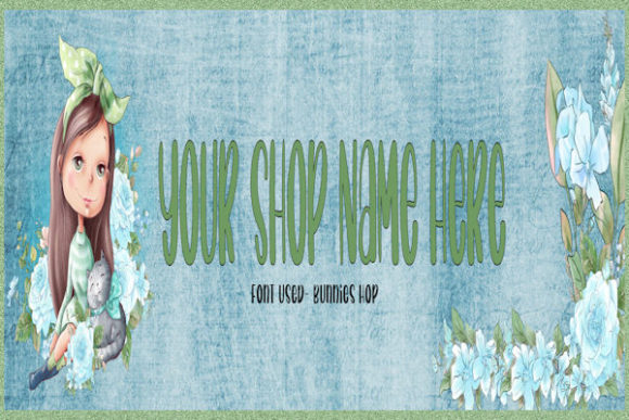 Print on Demand: Cute Spring Girl Shop Banner and Icon Graphic Websites By Magickal Girls (Michelle's Myths)