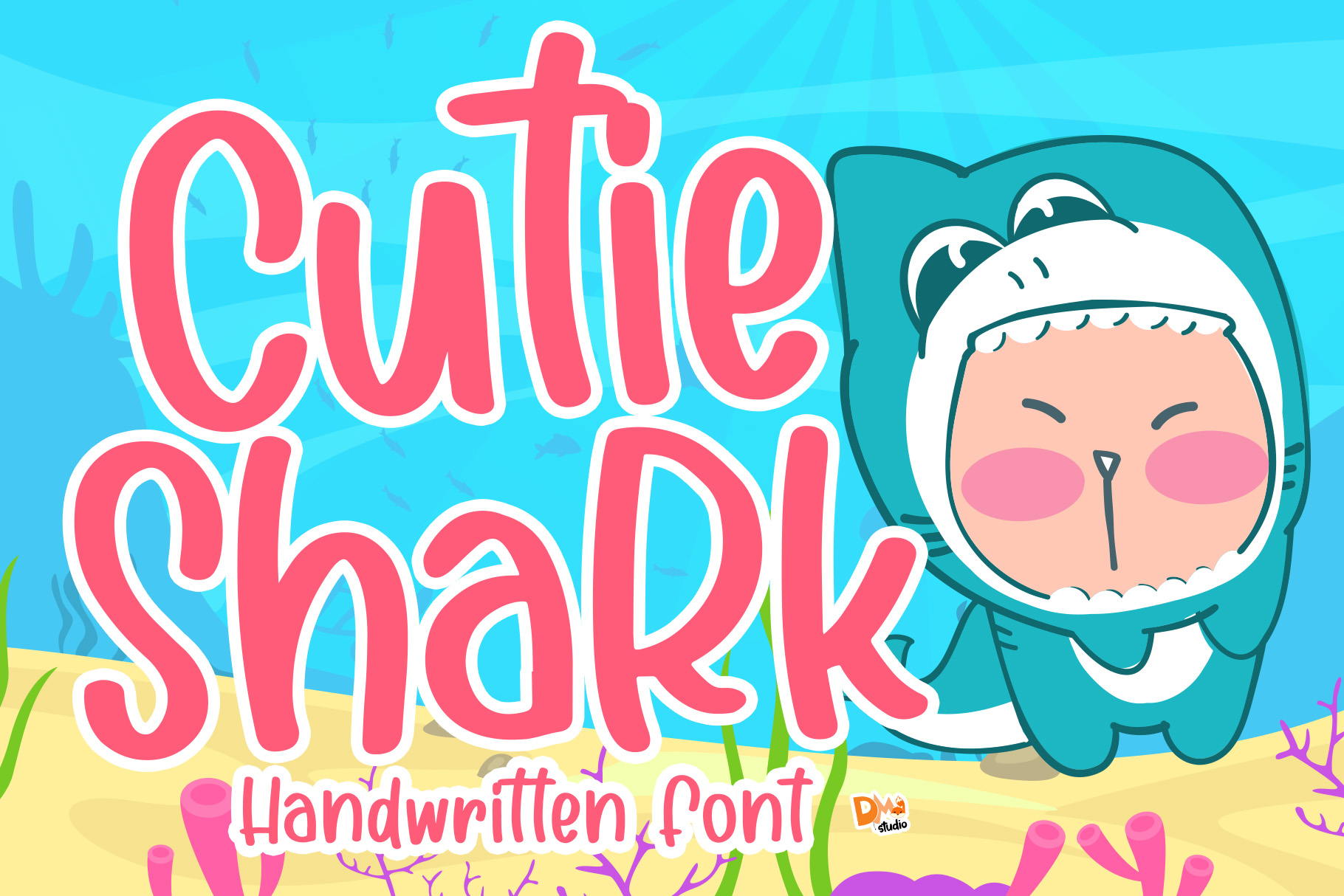 Download Free Cutie Shark Font By Dmletter31 Creative Fabrica for Cricut Explore, Silhouette and other cutting machines.