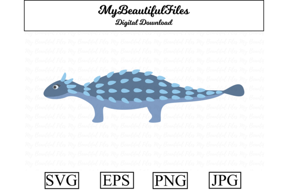 Download Free Dinosaur Ankylosaurus Clipart Graphic By Mybeautifulfiles for Cricut Explore, Silhouette and other cutting machines.