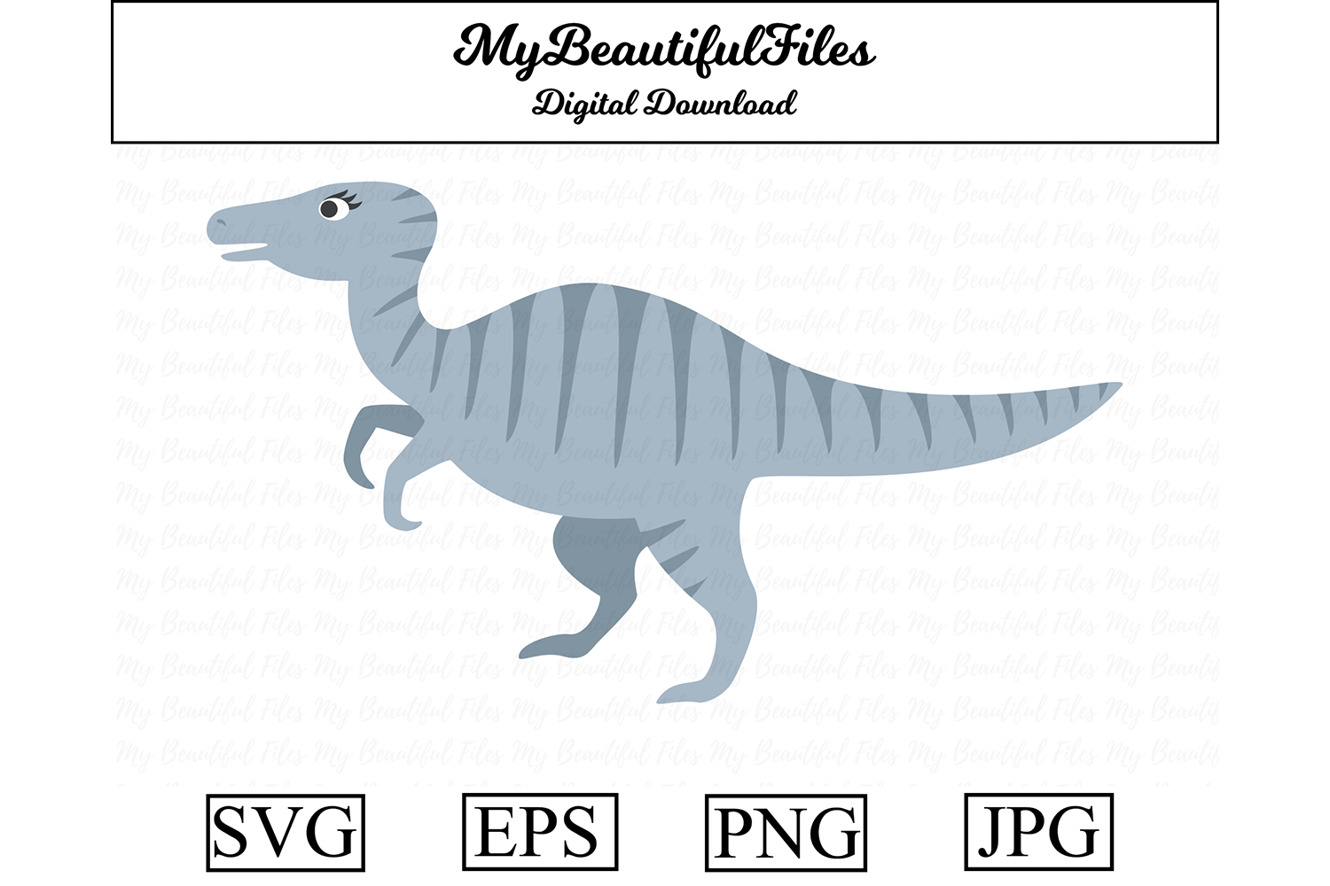 Download Free Dinosaur Velociraptor Clipart Graphic By Mybeautifulfiles for Cricut Explore, Silhouette and other cutting machines.