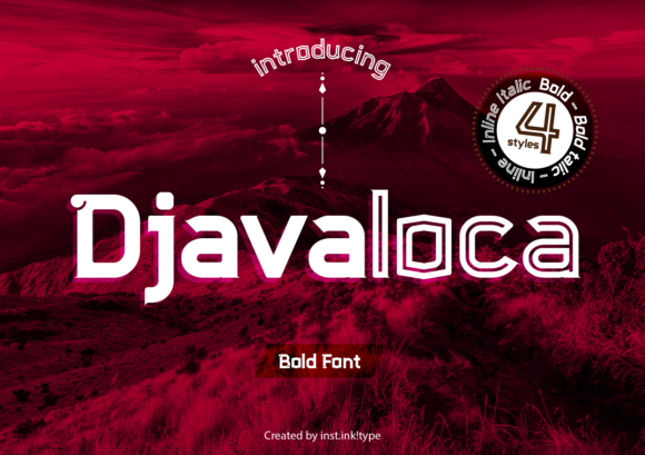 Print on Demand: Djavaloca Sans Serif Font By inst.ink!type