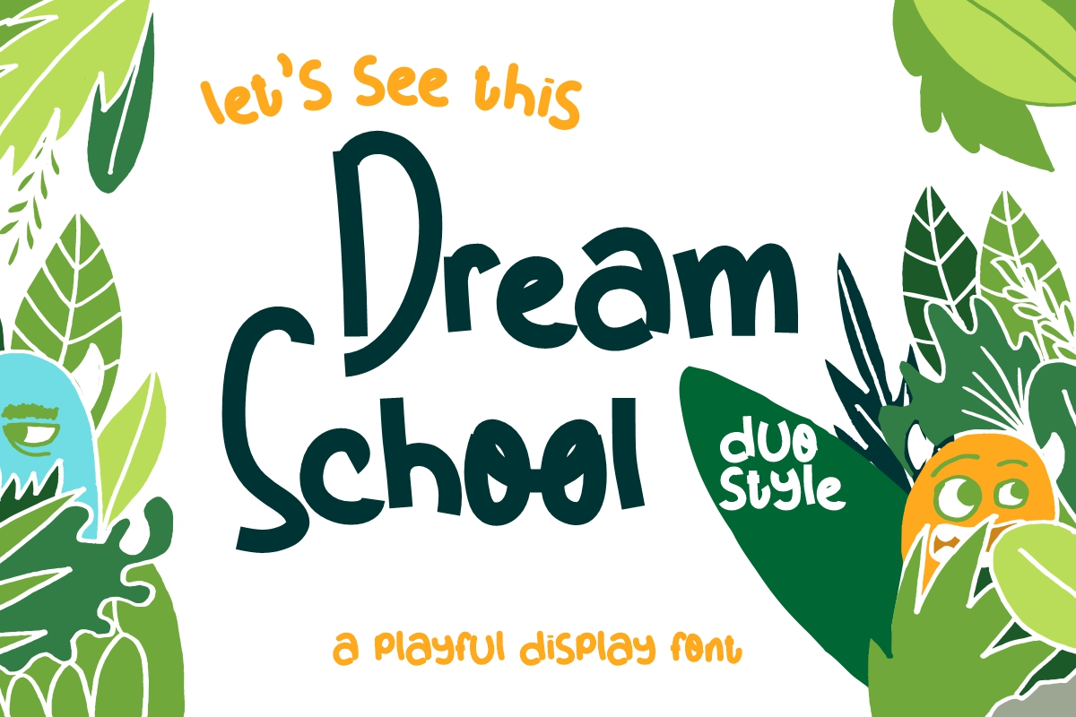 Download Free Dream School Font By Nryntdw Creative Fabrica for Cricut Explore, Silhouette and other cutting machines.