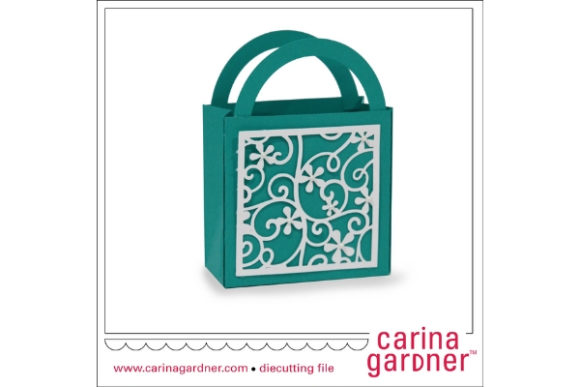 Filigree Favor Bag Graphic 3D SVG By carina2