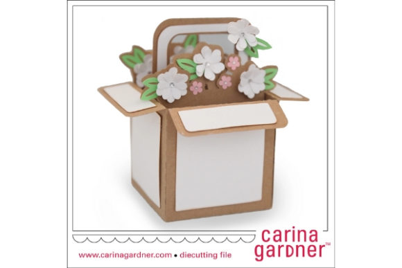 Filled Flower Basket Graphic 3D SVG By carina2