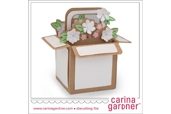 Download Free Filled Flower Basket Graphic By Carina2 Creative Fabrica for Cricut Explore, Silhouette and other cutting machines.