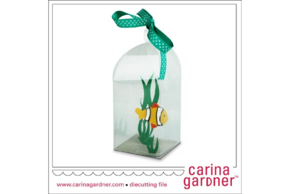 Fishy in a Bottle Graphic 3D SVG By carina2