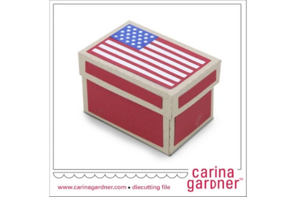 Flag Box Graphic 3D SVG By carina2