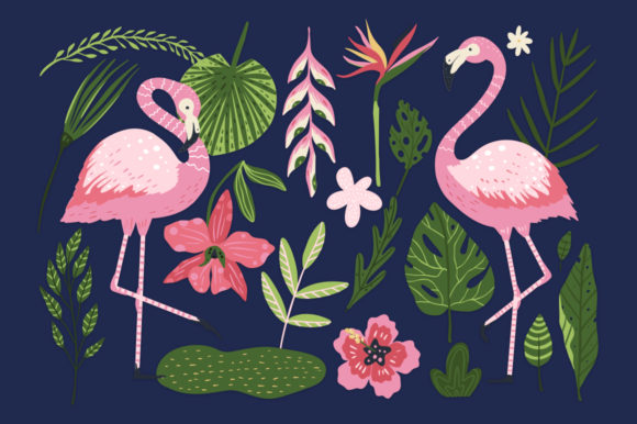 Print on Demand: Flamingo - Big Summer Collection Graphic Illustrations By Red Ink - Image 10