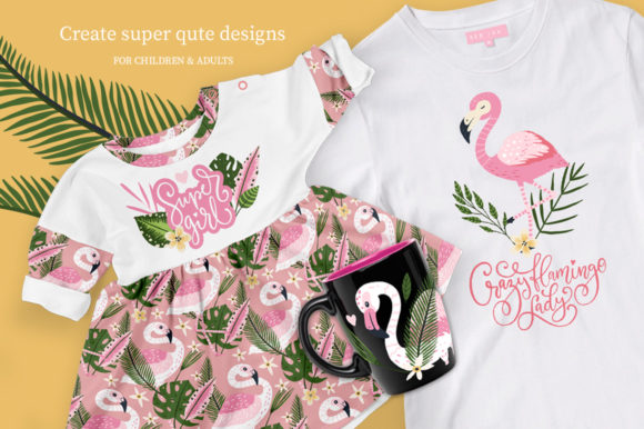 Print on Demand: Flamingo - Big Summer Collection Graphic Illustrations By Red Ink - Image 11