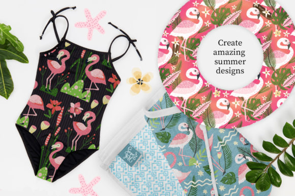 Print on Demand: Flamingo - Big Summer Collection Graphic Illustrations By Red Ink - Image 2