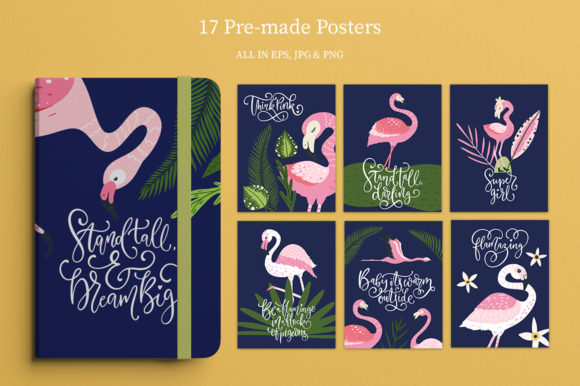 Print on Demand: Flamingo - Big Summer Collection Graphic Illustrations By Red Ink - Image 4