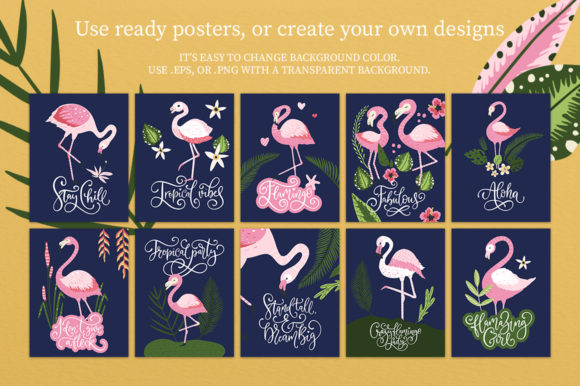 Print on Demand: Flamingo - Big Summer Collection Graphic Illustrations By Red Ink - Image 5