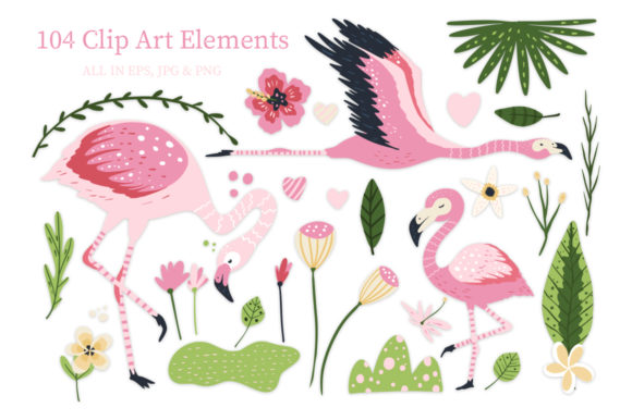 Print on Demand: Flamingo - Big Summer Collection Graphic Illustrations By Red Ink - Image 7